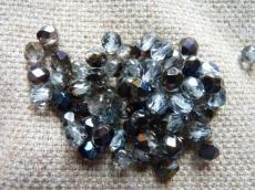 csiszolt gyöngy 6 mm világos zafírkék azuro 25 db