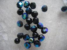csiszolt gyöngy 8 mm fekete AB 20 db