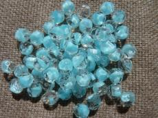 csiszolt gyöngy 8 mm: kristály-kék 20 db
