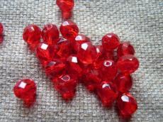 csiszolt gyöngy 8 mm piros 20 db