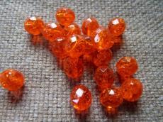 csiszolt gyöngy 8 mm roppantott narancs 20 db
