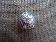 Cseh üveggomb kicsi virágos kristály AB