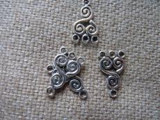 alap antik ezüst csigás