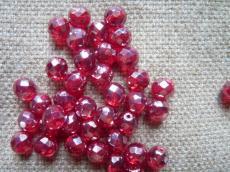 csiszolt gyöngy 8 mm: bordó-hematit 20 db