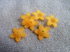 akril csillagvirág matt narancs 10 db