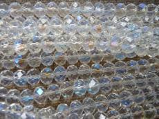 10 x 7 mm kristály AB donut 10 db