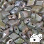 Diamonduo gyöngy: telt fehér kékesbarna travertin 10 db