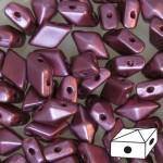 Diamonduo gyöngy: pastel burgundy 10 db