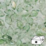 Diamonduo gyöngy: áttetsző világoszöld 10 db