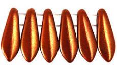 dupla lyukú anyósnyelv bronz lüszteres telt piros 10 db