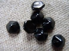 dupla lyukú préselt pyramid hexagon telt fekete