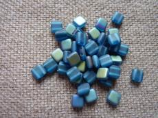 Dupla lyukú préselt négyzet matt capri blue vitex 20 db