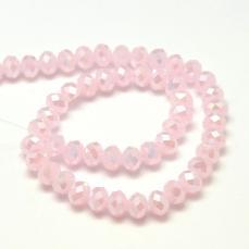 10 x 7 mm opál rózsaszín AB donut 10 db
