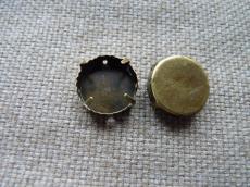 foglalat 12 mm antik sárgaréz