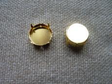 foglalat 16 mm arany