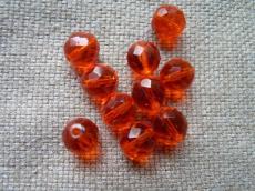 csiszolt gyöngy 11 mm narancs 5 db