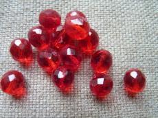 csiszolt gyöngy 11 mm piros 5 db