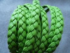 fonott bőr karkötő alap zöld 1 cm