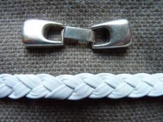kapcsoló 10 mm bőr karkötő alaphoz antik ezüst