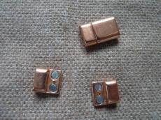 mágneses kapcsoló 10 mm bőr karkötő alaphoz rose gold