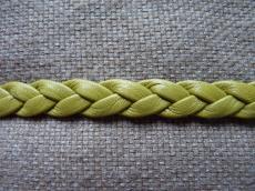 fonott bőr karkötő alap olivin 1 cm