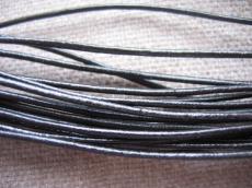 fekete gömbölyített bőrszál 2 mm