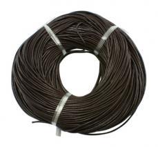sötétbarna gömbölyített bőrszál 2,5 mm