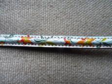 félkör alakú bőr karkötő alap szivárványos virágmintás 1 cm