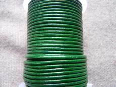 Zöld gömbölyített bőrszál