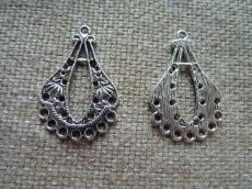 alap antik ezüst mintás csepp