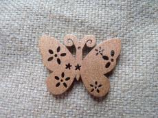 famedál: metál barna pillangó