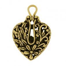 antik arany filigrán szív medál