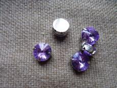 akril fűzhető foglalatos rivoli lila 12 mm
