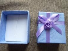 ajándékdoboz gyűrűhöz: lila