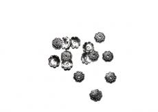 gyöngykupak: 8 mm antik ezüst színű csigás 20 db