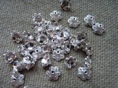 ezüst kúpos gyöngykupak 10 db