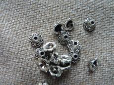 antik ezüst kúpos gyöngykupak 10 db