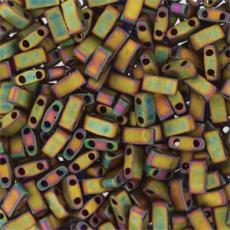 miyuki half tila matt metál khaki írisz kb. 2,5 g
