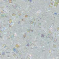 miyuki half tila kristály AB kb. 2,5 g