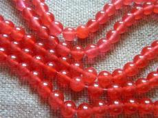 áttetsző piros jade utánzat 8 mm