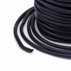 kaucsuk nyaklánc alap fekete 6 mm 50 cm