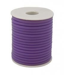 kaucsuk nyaklánc alap áttetsző lila 4 mm 50 cm