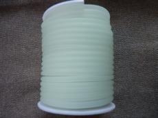 kaucsuk nyaklánc alap foszforeszkáló áttetsző fehér 4 mm 50 cm