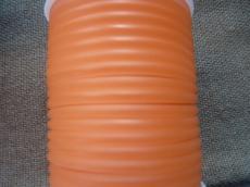 kaucsuk nyaklánc alap áttetsző barack 4 mm 50 cm