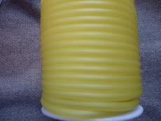 kaucsuk nyaklánc alap áttetsző sárga 4 mm 50 cm