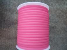 kaucsuk nyaklánc alap áttetsző pink 4 mm 50 cm