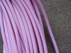 kaucsuk nyaklánc alap rózsaszín 4 mm 50 cm