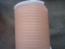 kaucsuk nyaklánc alap foszforeszkáló áttetsző világos barack 4 mm 50 cm