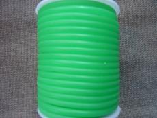 kaucsuk nyaklánc alap áttetsző világoszöld 4 mm 50 cm