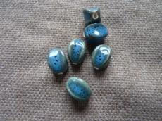 kerámia gyöngy kék